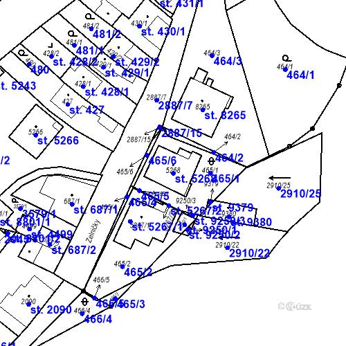 Katastrální mapa Parcela 5268 na katastrálním území Hodonín