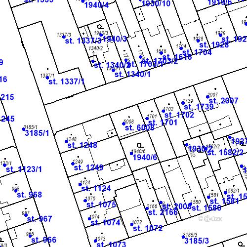Katastrální mapa Parcela 6008 na katastrálním území Hodonín