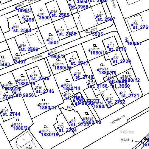 Katastrální mapa Parcela 2748 na katastrálním území Hodonín