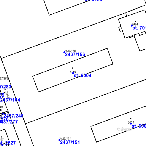Katastrální mapa Parcela 6004 na katastrálním území Hodonín