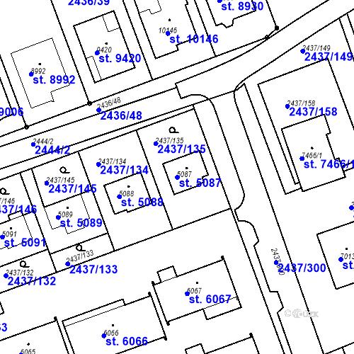 Katastrální mapa Parcela 5087 na katastrálním území Hodonín