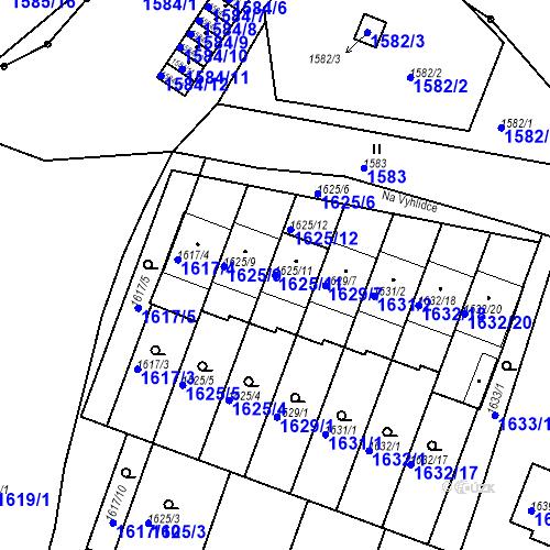 Katastrální mapa Parcela 1625/11 na katastrálním území Bučovice