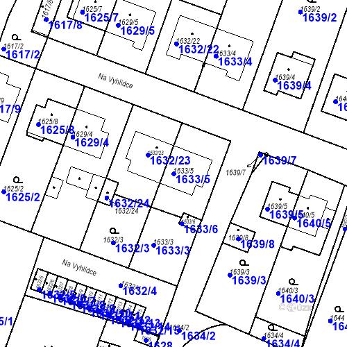 Katastrální mapa Parcela 1633/5 na katastrálním území Bučovice