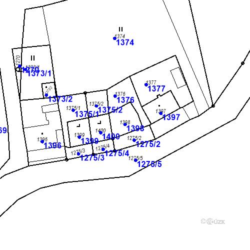 Katastrální mapa Parcela 1398 na katastrálním území Lhota u Konice