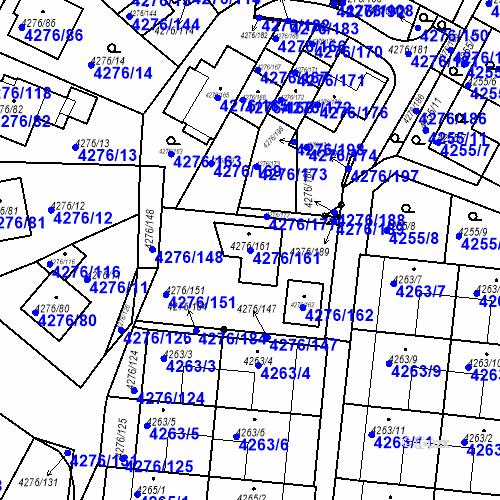 Katastrální mapa Parcela 4276/161 na katastrálním území Boskovice