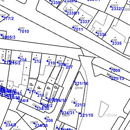 Katastrální mapa Parcela 207 na katastrálním území Boskovice