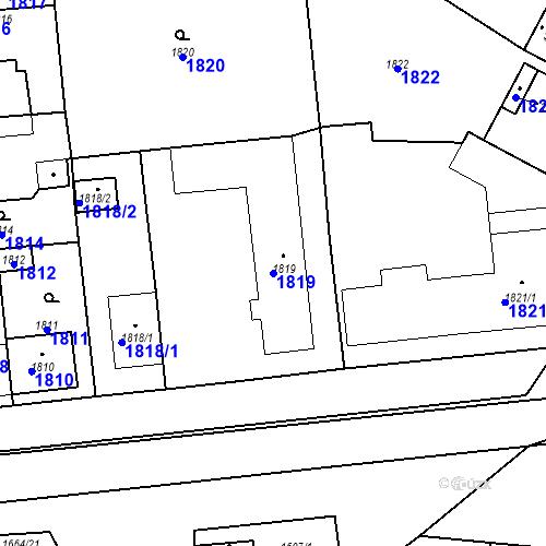 Katastrální mapa Parcela 1819 na katastrálním území Valtice