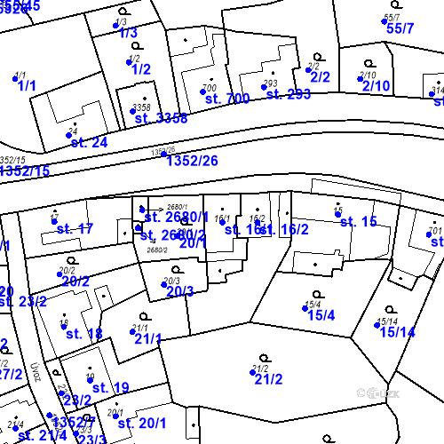 Katastrální mapa Parcela 16/1 na katastrálním území Blansko