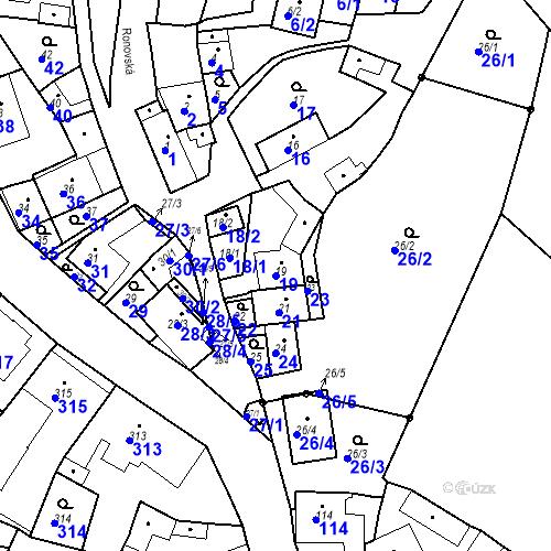 Katastrální mapa Parcela 19 na katastrálním území Ořešín