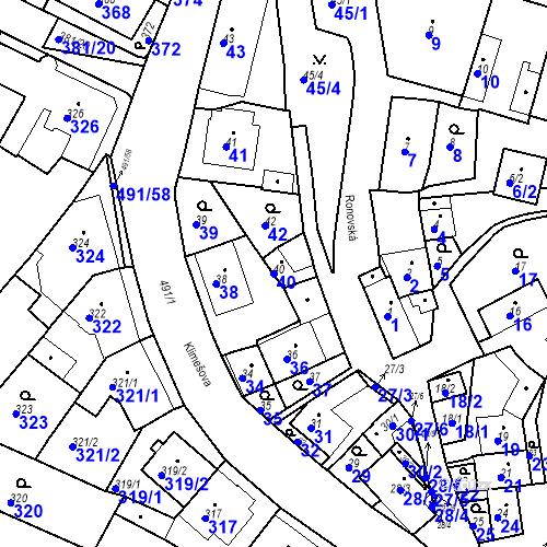 Katastrální mapa Parcela 40 na katastrálním území Ořešín