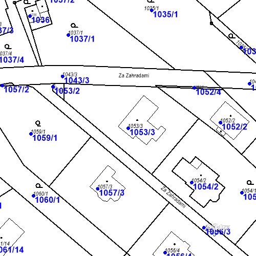 Katastrální mapa Parcela 1053/3 na katastrálním území Lelekovice