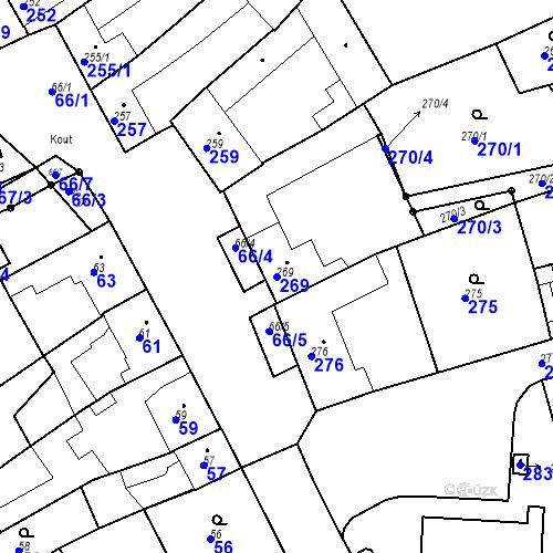 Katastrální mapa Parcela 269 na katastrálním území Kuřim