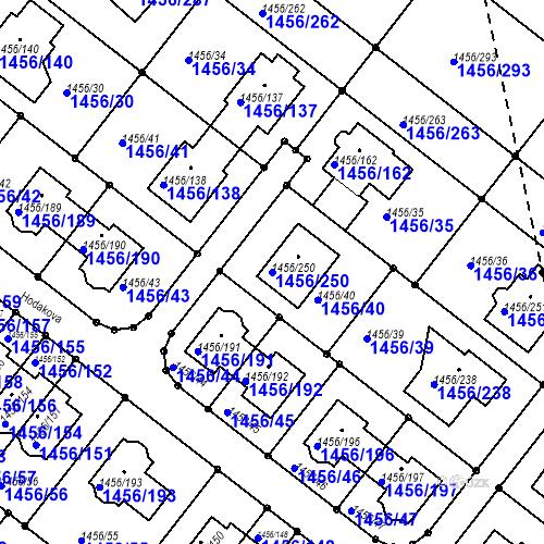 Katastrální mapa Parcela 1456/250 na katastrálním území Troubsko