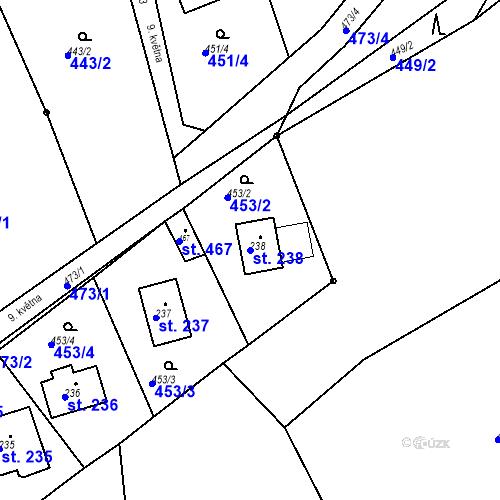 Katastrální mapa Parcela 238 na katastrálním území Malé Svatoňovice