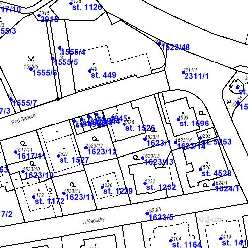 Katastrální mapa Parcela 1526 na katastrálním území Trutnov