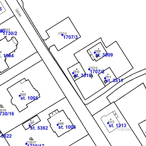 Katastrální mapa Parcela 3510 na katastrálním území Trutnov