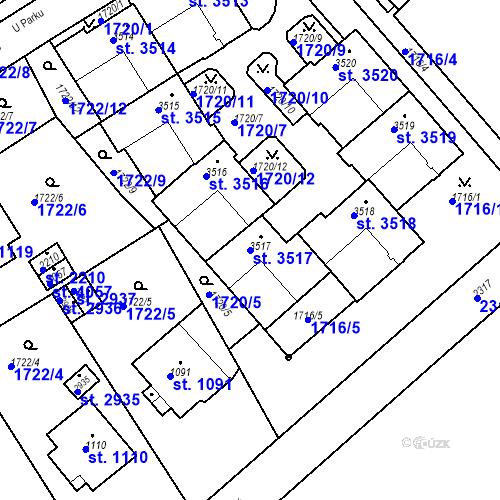 Katastrální mapa Parcela 3517 na katastrálním území Trutnov