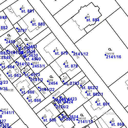 Katastrální mapa Parcela 878 na katastrálním území Trutnov