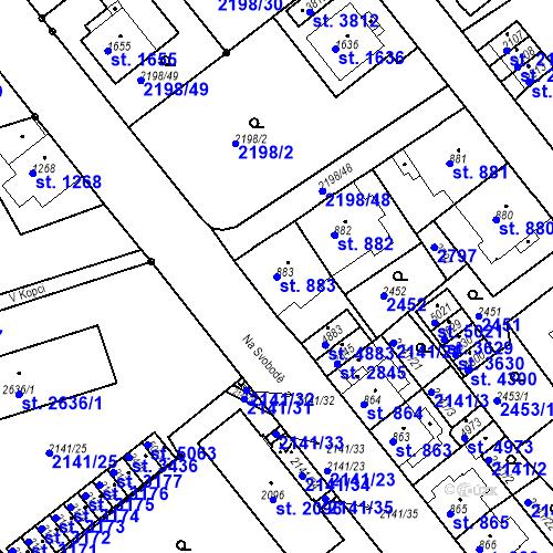 Katastrální mapa Parcela 883 na katastrálním území Trutnov