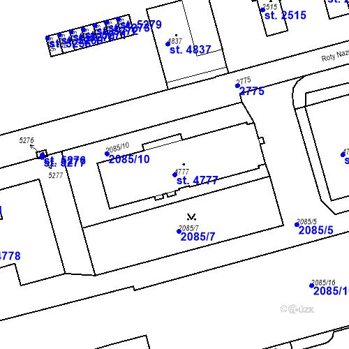 Katastrální mapa Parcela 4777 na katastrálním území Trutnov