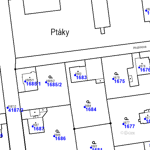 Katastrální mapa Parcela 1683 na katastrálním území Jaroměř