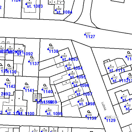 Katastrální mapa Parcela 1094 na katastrálním území Slezské Předměstí
