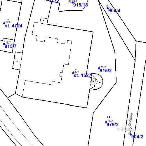 Katastrální mapa Parcela 1527 na katastrálním území Chrudim