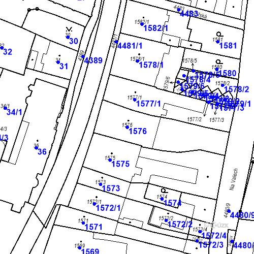 Katastrální mapa Parcela 1576 na katastrálním území Chotěboř