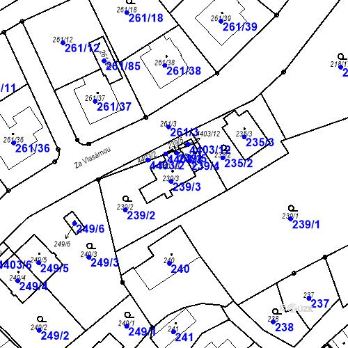 Katastrální mapa Parcela 239/3 na katastrálním území Chotěboř