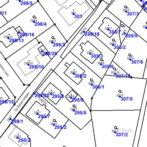 Katastrální mapa Parcela 306/2 na katastrálním území Chotěboř