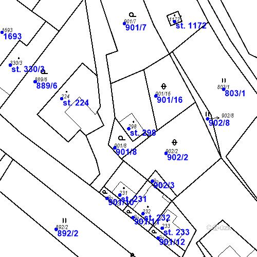 Katastrální mapa Parcela 298 na katastrálním území Luka nad Jihlavou