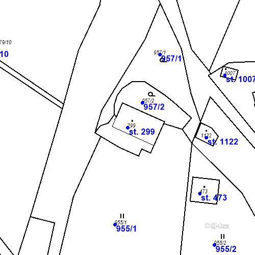 Katastrální mapa Parcela 299 na katastrálním území Luka nad Jihlavou