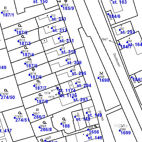 Katastrální mapa Parcela 295 na katastrálním území Luka nad Jihlavou