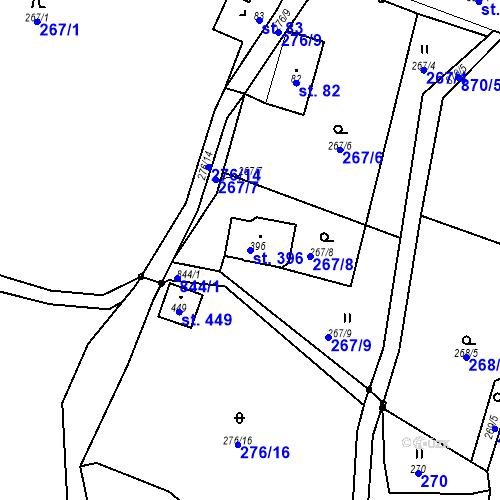 Katastrální mapa Parcela 396 na katastrálním území Hraničná nad Nisou