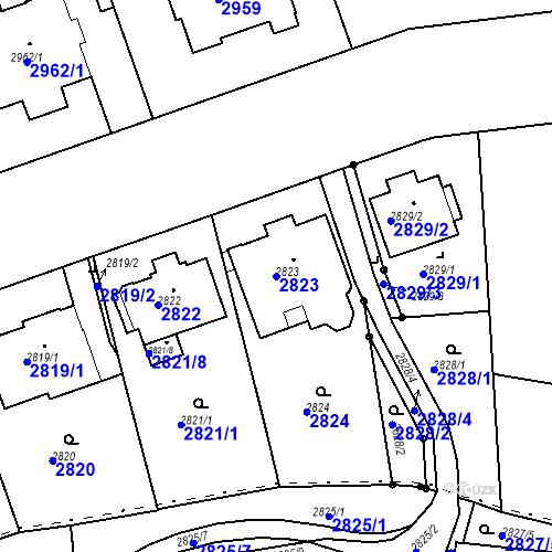 Katastrální mapa Parcela 2823 na katastrálním území Liberec