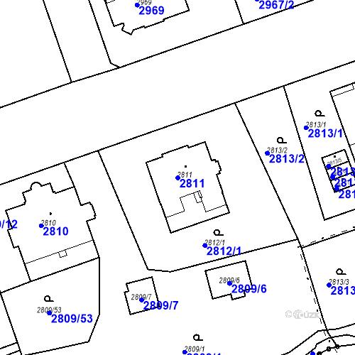 Katastrální mapa Parcela 2811 na katastrálním území Liberec