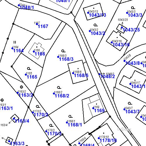 Katastrální mapa Parcela 1168/6 na katastrálním území Ruprechtice
