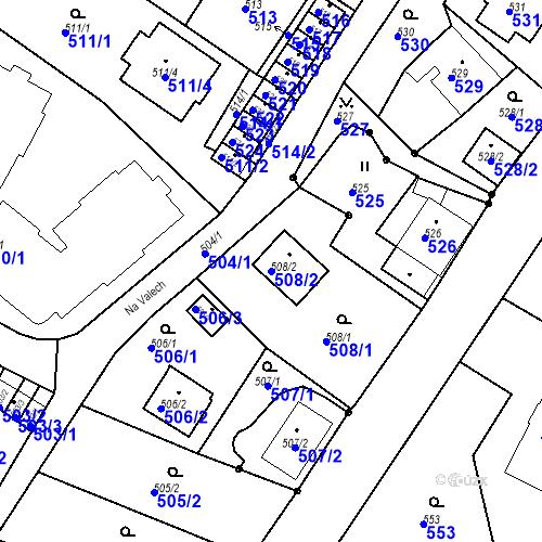 Katastrální mapa Parcela 508/2 na katastrálním území Ruprechtice