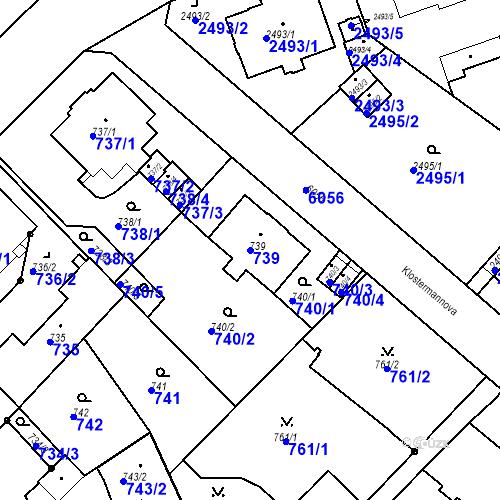 Katastrální mapa Parcela 739 na katastrálním území Liberec