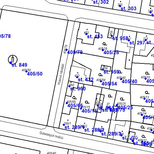 Katastrální mapa Parcela 432 na katastrálním území Velký Osek
