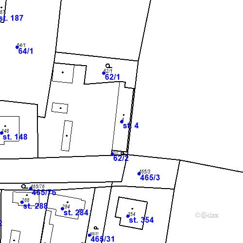 Katastrální mapa Parcela 4 na katastrálním území Bobnice