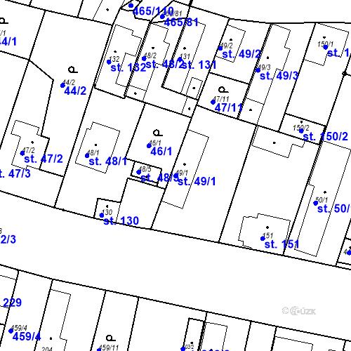 Katastrální mapa Parcela 49/1 na katastrálním území Bobnice