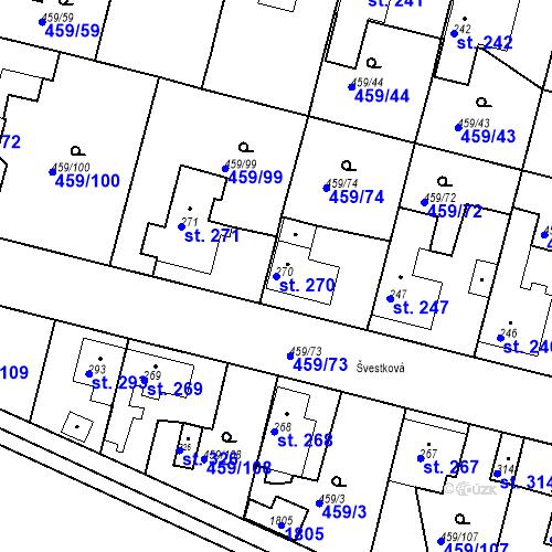 Katastrální mapa Parcela 270 na katastrálním území Bobnice