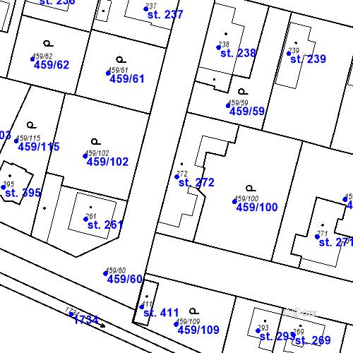 Katastrální mapa Parcela 272 na katastrálním území Bobnice