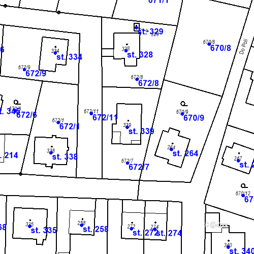 Katastrální mapa Parcela 339 na katastrálním území Veselá u Mnichova Hradiště