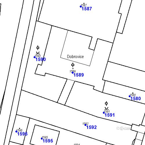 Katastrální mapa Parcela 1589 na katastrálním území Dobrovice