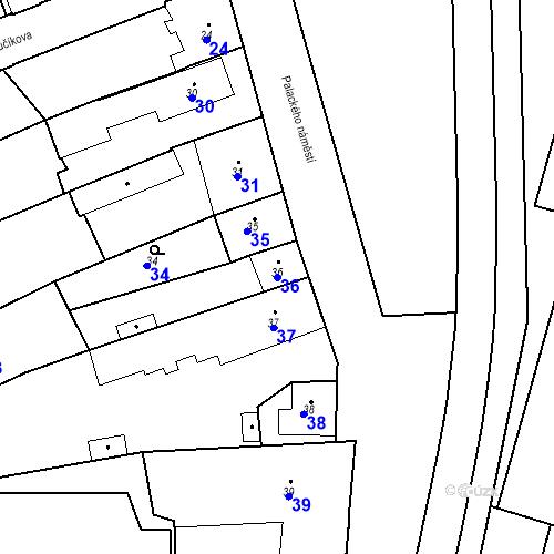 Katastrální mapa Parcela 36 na katastrálním území Dobrovice