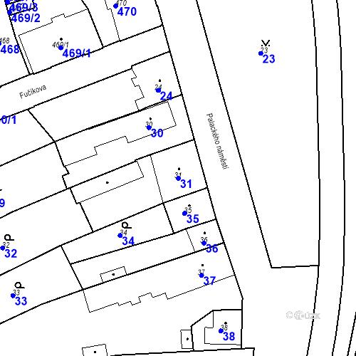 Katastrální mapa Parcela 31 na katastrálním území Dobrovice