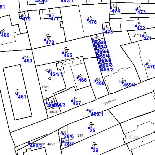 Katastrální mapa Parcela 466 na katastrálním území Dobrovice