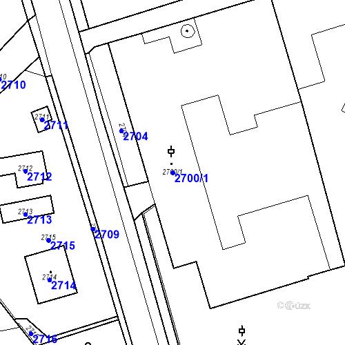 Katastrální mapa Parcela 2700/1 na katastrálním území Kostelec nad Černými lesy